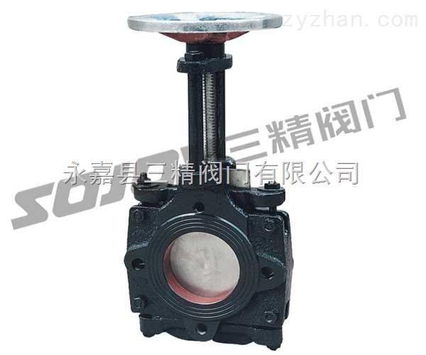 刀型闸阀图片系列:Z73X手动浆料闸阀