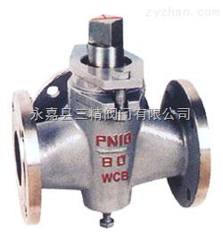 旋塞阀图片系列:X44W三通铸钢旋塞阀